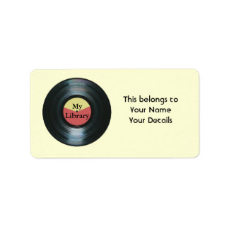 Music Collection Vinyl Record Name Gift Tag Labels