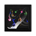 Music Colorful Notes Customizable Jewelry Gift Box