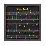 Music Colorful Notes Customizable Premium Box Premium Trinket Box