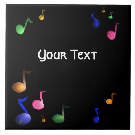 Music Colorful Notes Tile Customizable