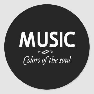 Music...Colors of the Soul Classic Round Sticker