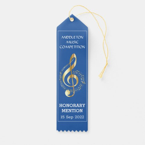 Music Competition with  GoldenTreble Clef Award Ribbon