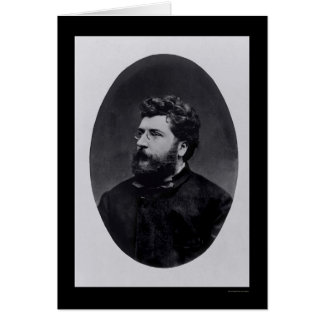 Music Composer Georges Bizet 1870 Card
