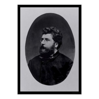 Music Composer Georges Bizet 1870 Poster