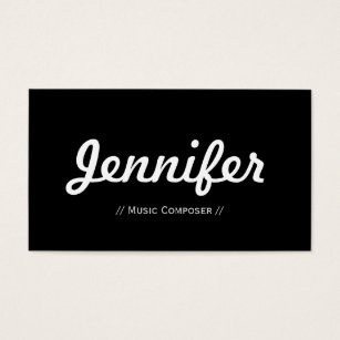 Composer business cards templates zazzle music composer minimal simple concise business card reheart Images