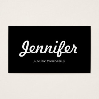 Music Composer - Minimal Simple Concise Business Card