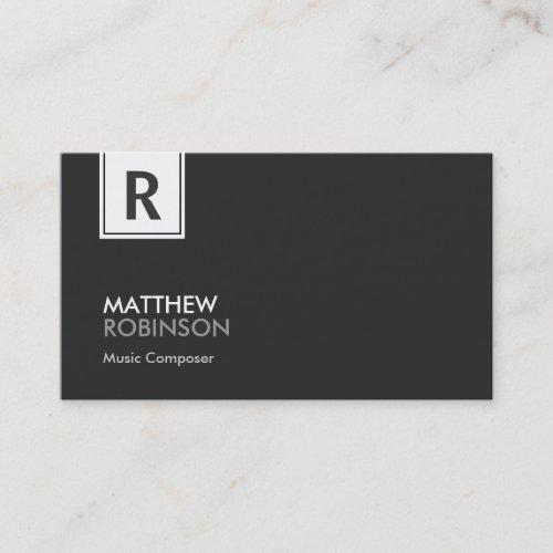 Music Composer _ Modern Classy Monogram Business Card