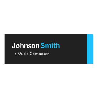 Music Composer - Personal Aqua Blue Mini Mini Business Card