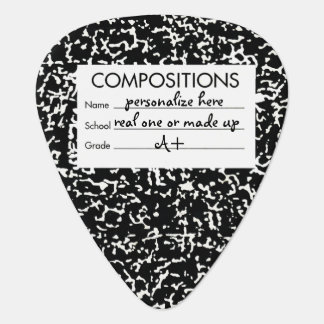 Music Composition Book Guitar Pick