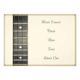 Music Concert Admission Ticket Invitation Card