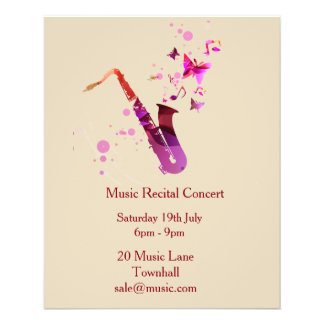 Music concert Recital music performance Flyer