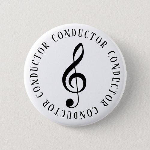 Music Conductor Treble Clef Button
