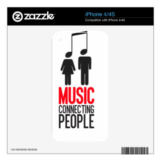 Music Connecting People Decal For iPhone 4