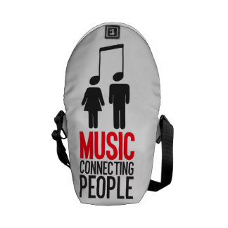 Music Connecting People Messenger Bag