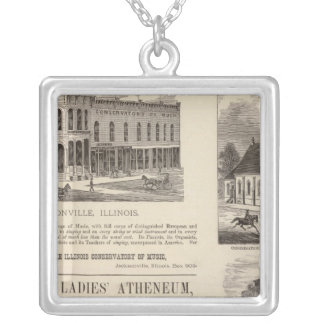Music Conservatory, school, church Silver Plated Necklace