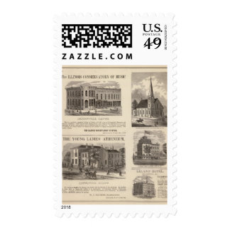 Music Conservatory, school, church Stamp