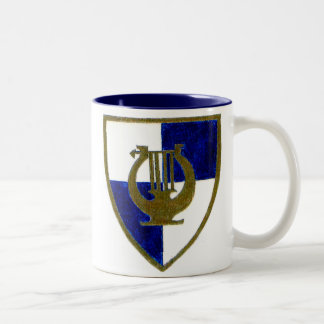 Music Crest Two-Tone Coffee Mug