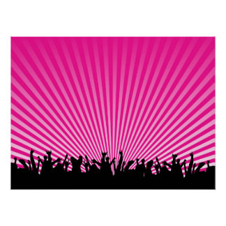 music crowd poster