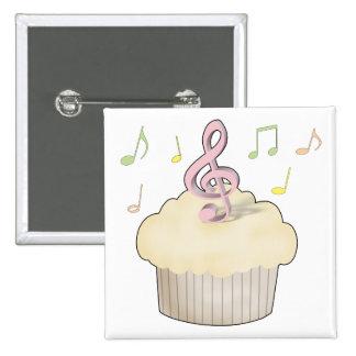Music Cupcake Pinback Button