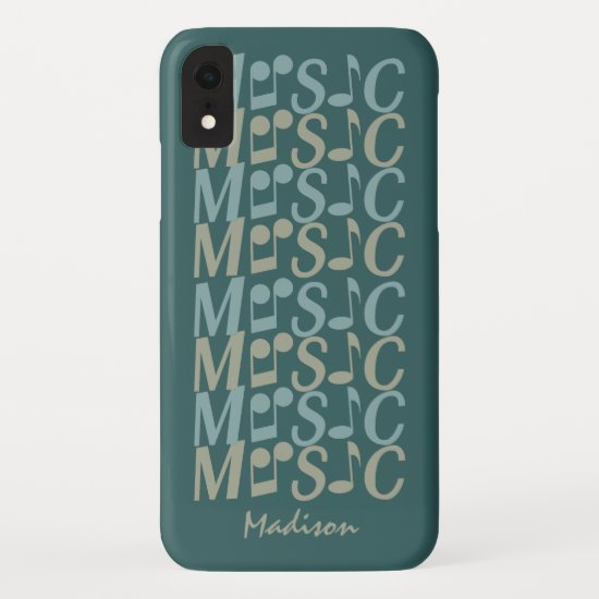 MUSIC custom color & name phone cases