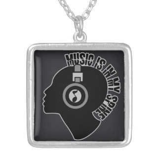 Music custom color necklace
