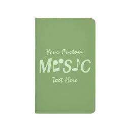 MUSIC custom pocket journal