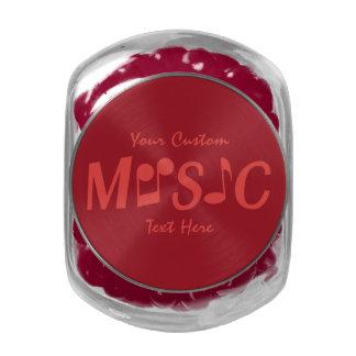 MUSIC custom tins & jars Glass Candy Jar