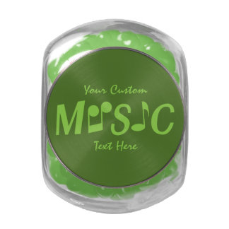 MUSIC custom tins & jars Jelly Belly Candy Jars