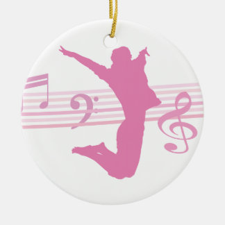 Music Dance and Drama pink Ornaments