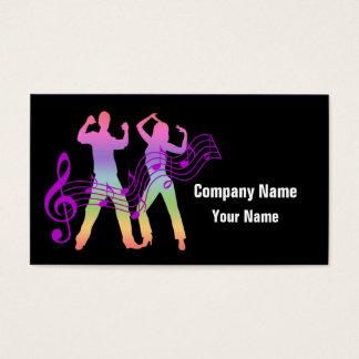 Music Dance custom business cards