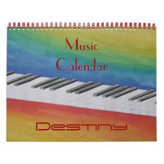 Music Dance Peace Love Party Destiny Digital Wall Calendars