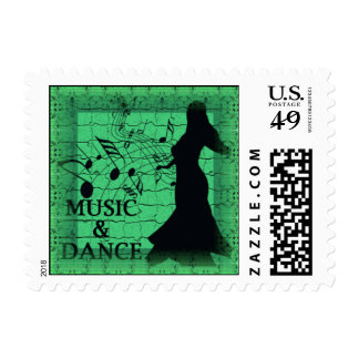 MUSIC & DANCE Postage Stamps