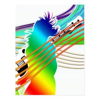 Music Dance Style Post Card
