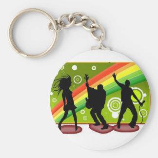 Music dances key chain