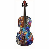 Music Decor, Acrylic Photo Art Sculpture Cello