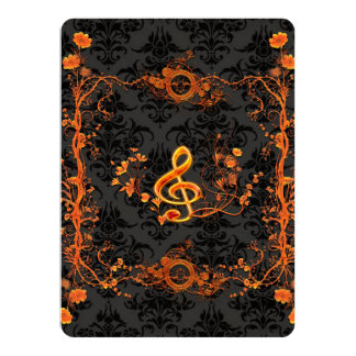 Music, decorative clef card