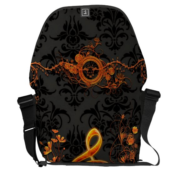 Music, decorative clef with flowers courier bag