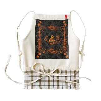 Music, decorative clef zazzle HEART apron
