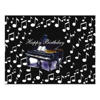 Music_ del piano tarjeta postal
