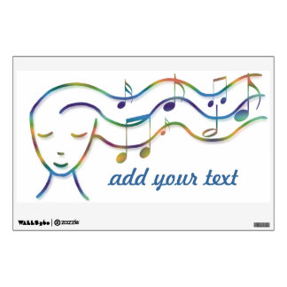 music design add your text wall decal
