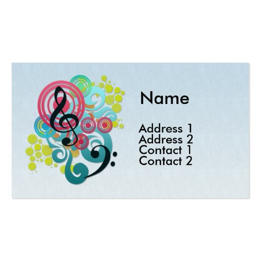 Music design business cards zazzle for Music business card design