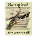 Music Design Customizable Poster