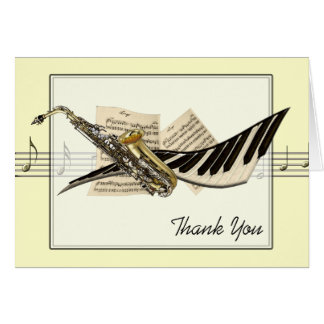 Music Design Greetings Card