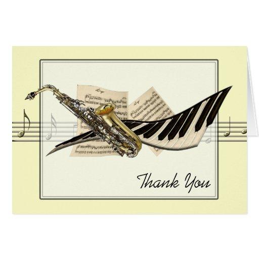 Music Design Greetings Card