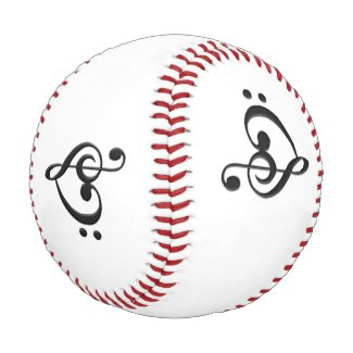 Music Design Heart Baseball