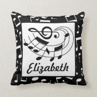Music Design Personalized Musical Notes Pillow
