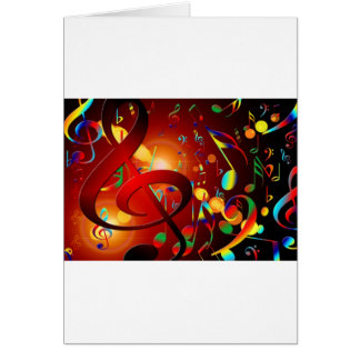 Music Destiny Song & Dance Notes Instruments Greeting Cards