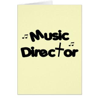 Music Director Greeting Card