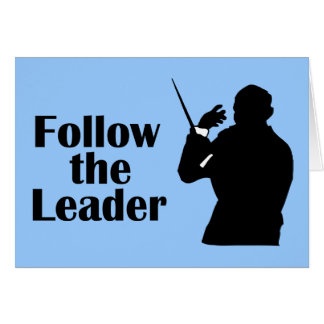 Music Director Follow The Leader Card