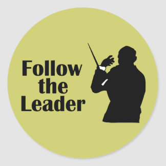 Music Director Follow The Leader Classic Round Sticker